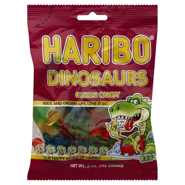 Haribo Dinosaurs Gummy Candy, 5.29 Oz., 12 Count