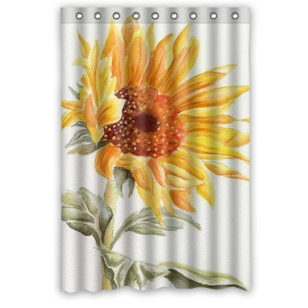 Ganma Sunflower Shower Curtain Polyester Fabric Bathroom 48x72 Inches