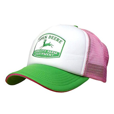 John Deere Women's Foam Front Mesh Trucker Hat - Womens Trucker Hat