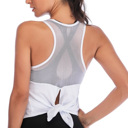 Sleeveless Women's Mesh Patchwork Sport Tank Tops ()