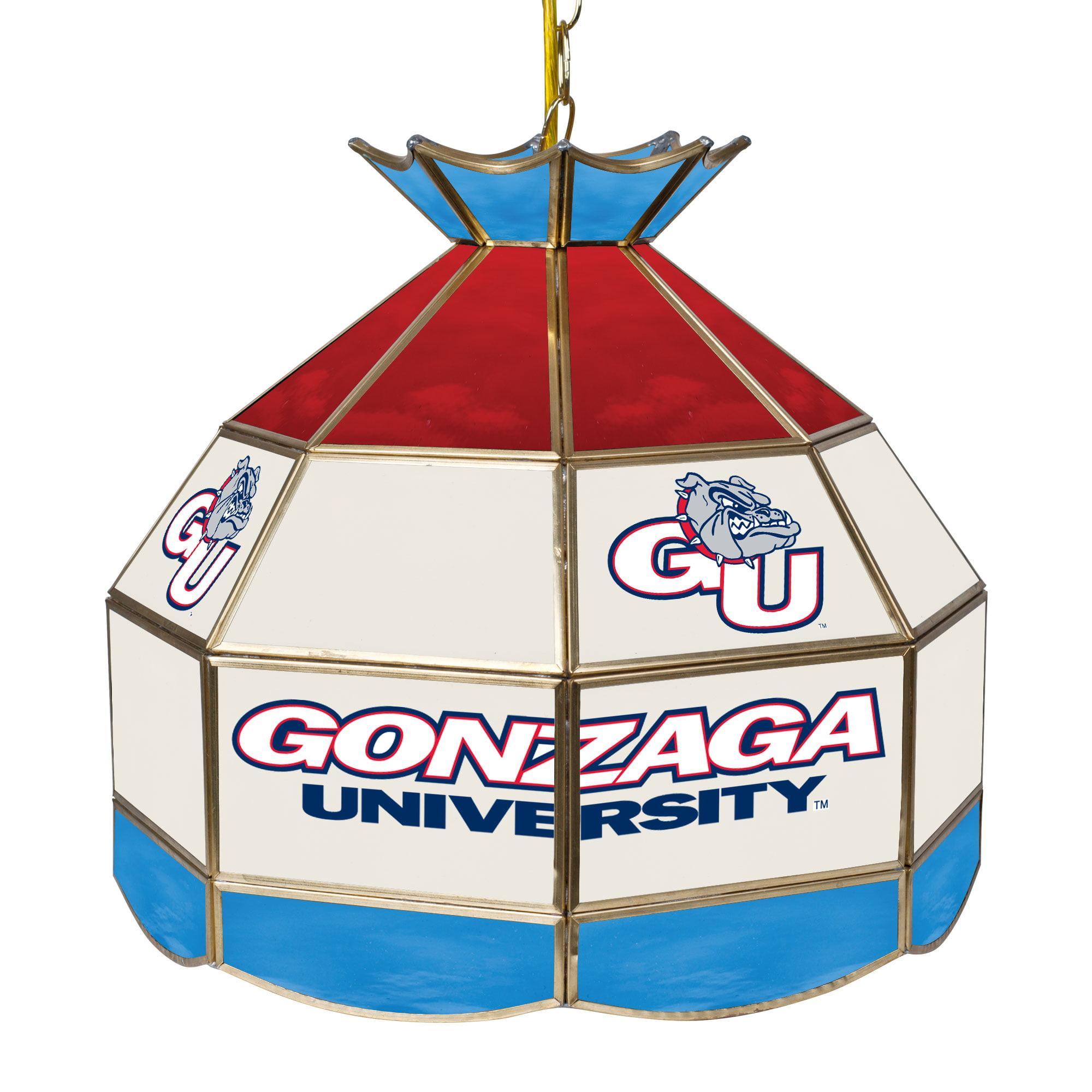 "NCAA Gonzaga University 16"" Stained Glass Tiffany Lamp Light Fixture"