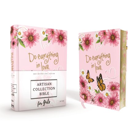 Niv, Artisan Collection Bible for Girls, Cloth Over Board, Pink Daisies, Designed Edges Under Gilding, Red Letter Edition, Comfort Print (Hardcover) ()