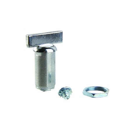 Lippert  RV Baggage Door Turn Latch, Chrome - 1.38 in. - image 1 of 1