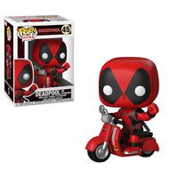 Funko POP! Rides Deadpool: Deadpool with Scooter, Vinyl Figure