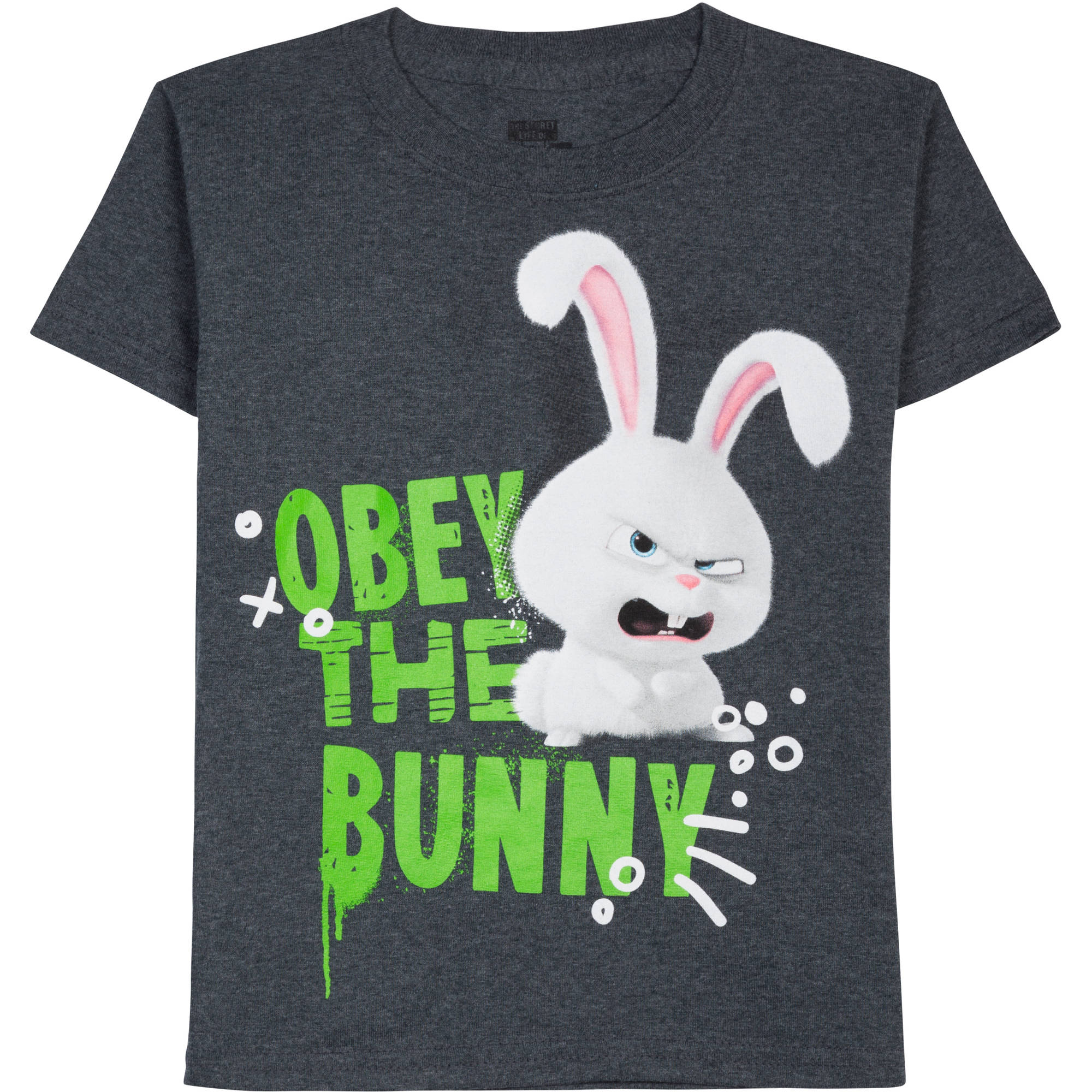 Secret Life of Pets Boys' Bunny Obey Graphic Tee
