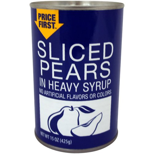 Price First Sliced Pears in Heavy Syrup, 15 oz by Pacific Coast Producers