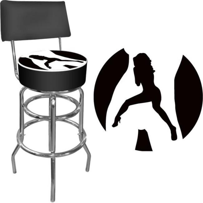 Shadow Babes-C Series-High Grade Padded Bar Stool with Back-Made In USA