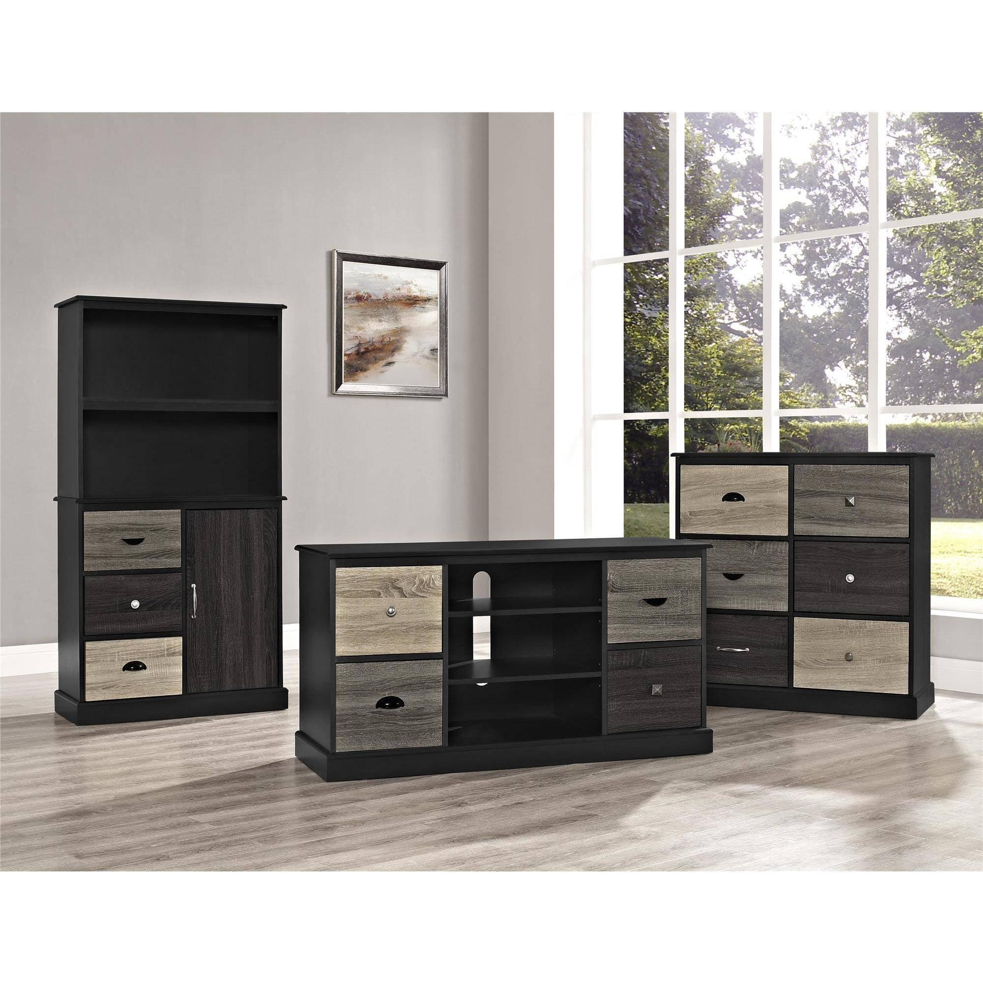 Stupendous Altra Furniture Mercer 6 Cube Storage Unit Black Walmart Com Largest Home Design Picture Inspirations Pitcheantrous