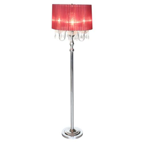 Elegant Designs Trendy Romantic Sheer Shade Floor Lamp with Crystals by Elegant Designs