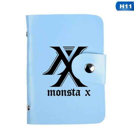 Fancyleo Kpop GOT7 SEVENTEEN MONSTA X PU Credit ID Card Holder Pocket Wallet Purse BGVT