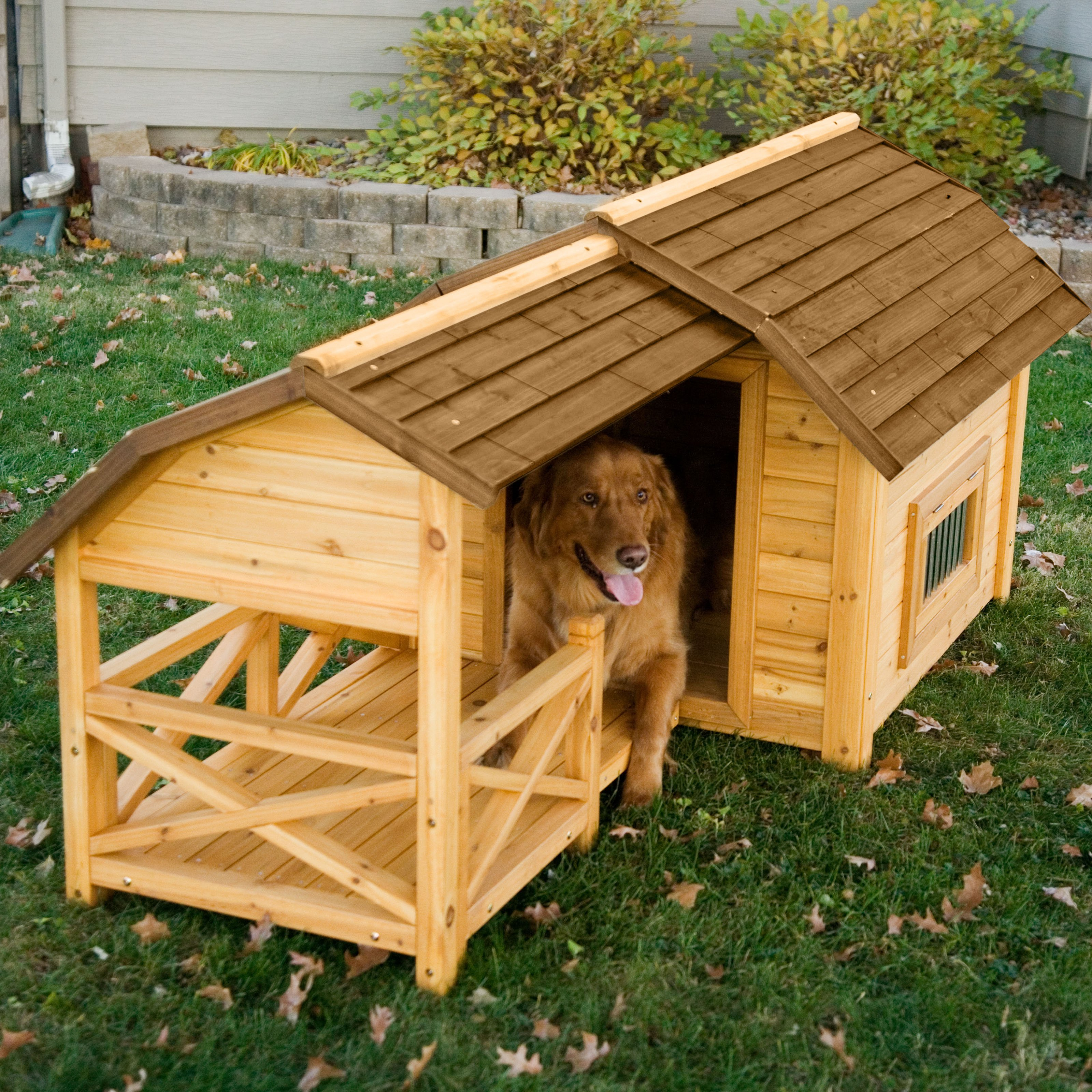 Boomer & George Wooden Barn Dog House Walmart