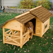 Boomer ; George Wooden Barn Dog House