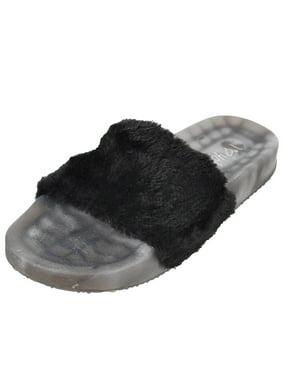 8855d3572e88b9 Girls  Slide Sandals (Sizes 10 ...