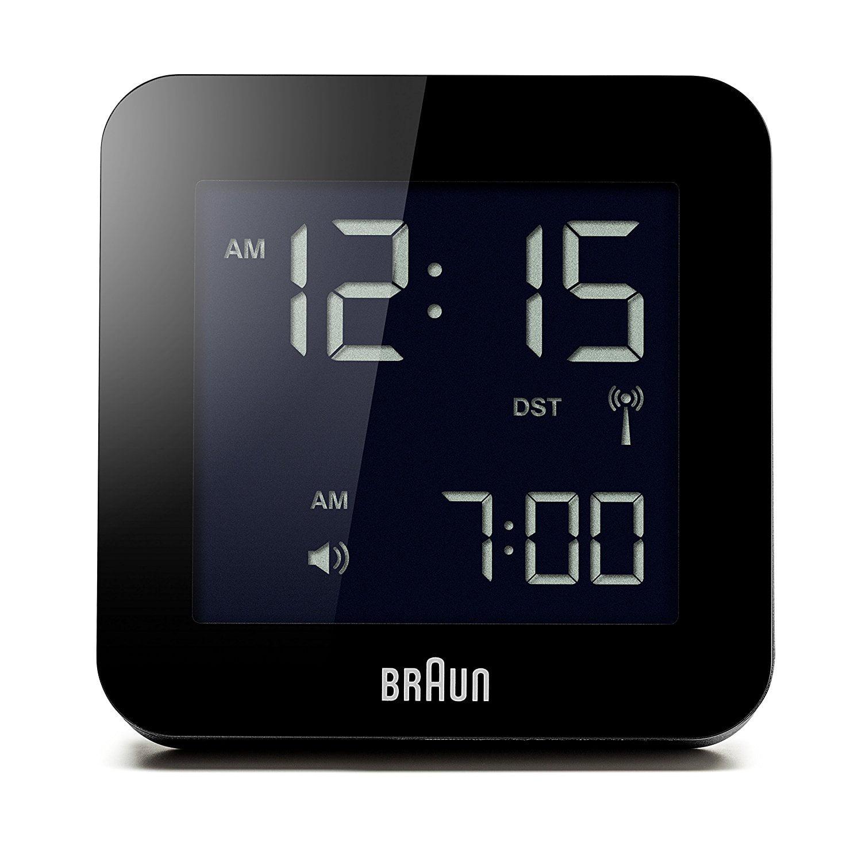 Braun BNC009BK_RC Digital Quartz Alarm Clock