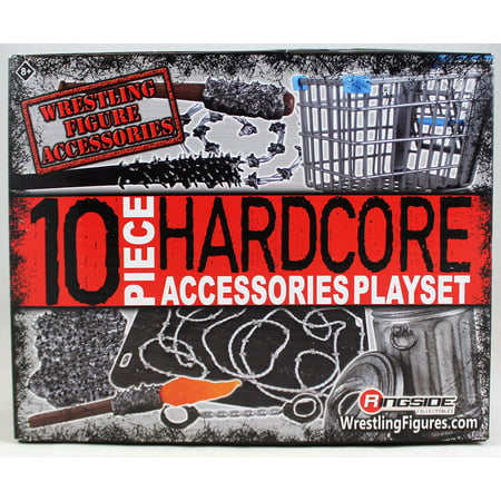 10-Piece Hardcore Accessories Playset - Ringside Exclusive for WWE Toy Wrestling Action - Wwe Toy Rings