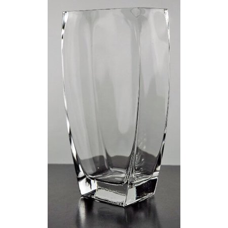 4 Pieces Of Tapered Rectangle Glass Vase 10 Inches Walmart