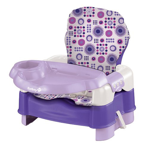 Safety 1st Deluxe Sit Snack and Go Convertible Booster with Full Pad, Lavendar Multi-Colored