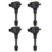 Set of 4 Ignition Coils Compatible with 2002-2006 Nissan Altima 2.5L V4 152cid Replacement for UF350 C1398
