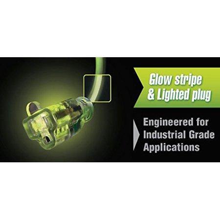 Flexzilla Pro Extension Cord, 10/3 AWG SJTW, 50', Lighted Plug, Indoor/Outdoor, ZillaGreen-727-103050FZL5F - image 2 de 3