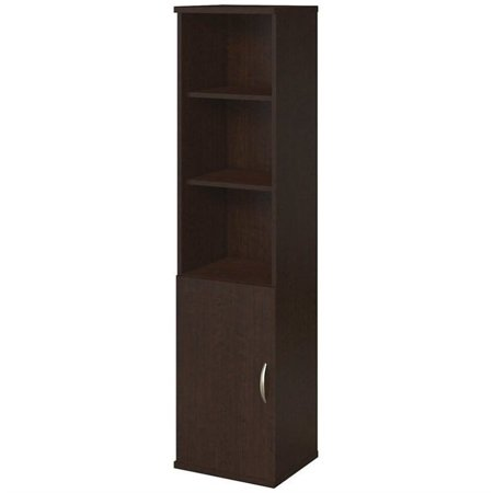 Scranton & Co 18W Bookcase with Doors in Mocha Cherry 2 Door Mocha Cherry