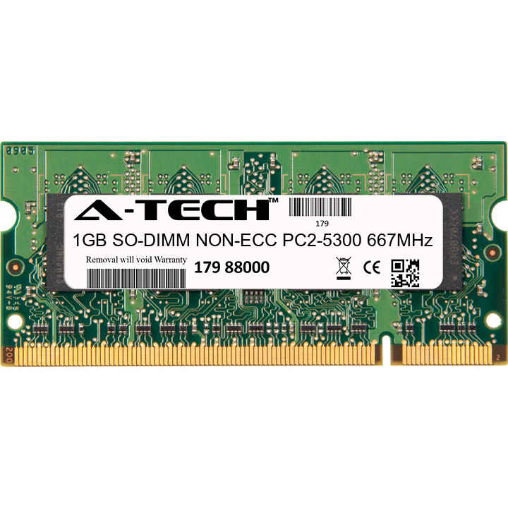 1GB Module PC2-5300 667MHz NON-ECC DDR2 SO-DIMM Laptop 200-pin Memory Ram