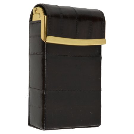 Eel Skin Genuine Leather Sliding Cigarette Case Wallet E 131