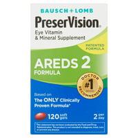 Bausch + Lomb PreserVision AREDS 2 Formula Eye Vitamin Soft Gels, 120 CT Soft Gels