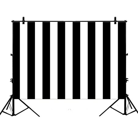 GCKG 7x5ft Black & White Stripes Party Wedding Child Lovers Girls Adults Portraits Polyester Photography Backdrop Studio Prop Photo Background - image 1 de 4