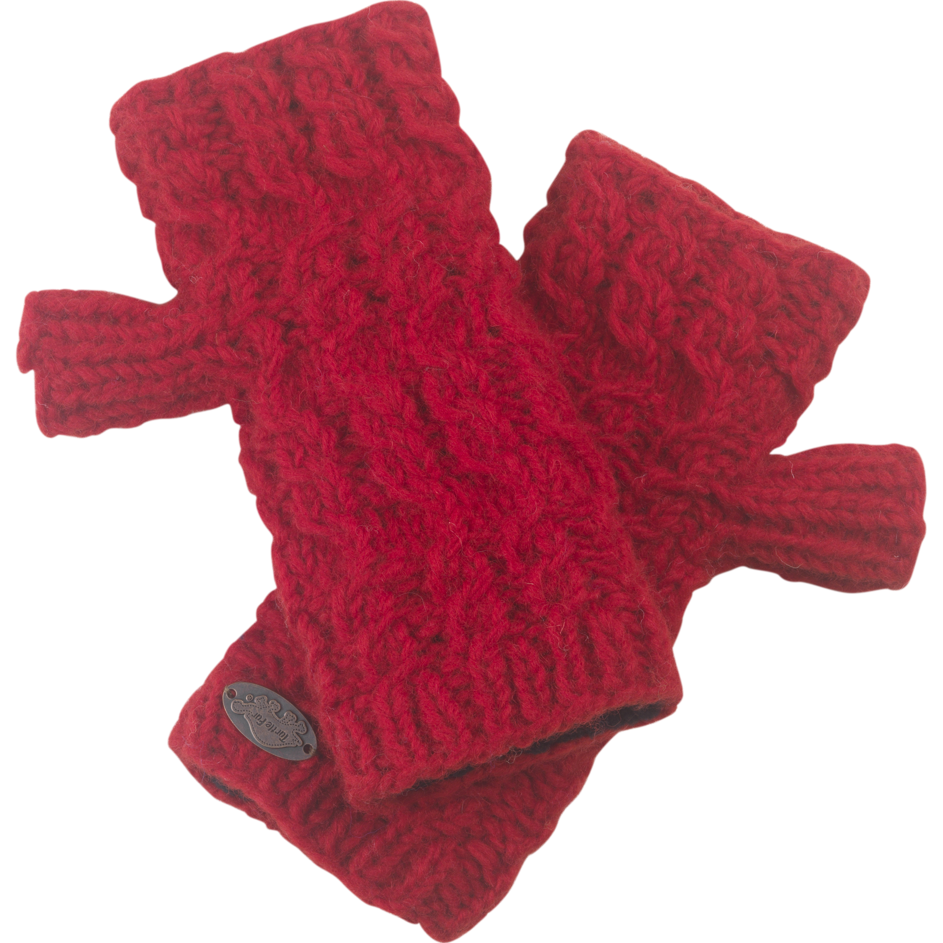 Turtle Fur Women's Nepal Mika Fingerless Mittens, Hand Knit Wool