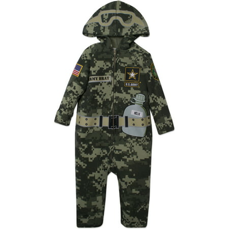 Us Army Costumes (US Army Uniform Toddler Costume Coverall with Digital Camo and)