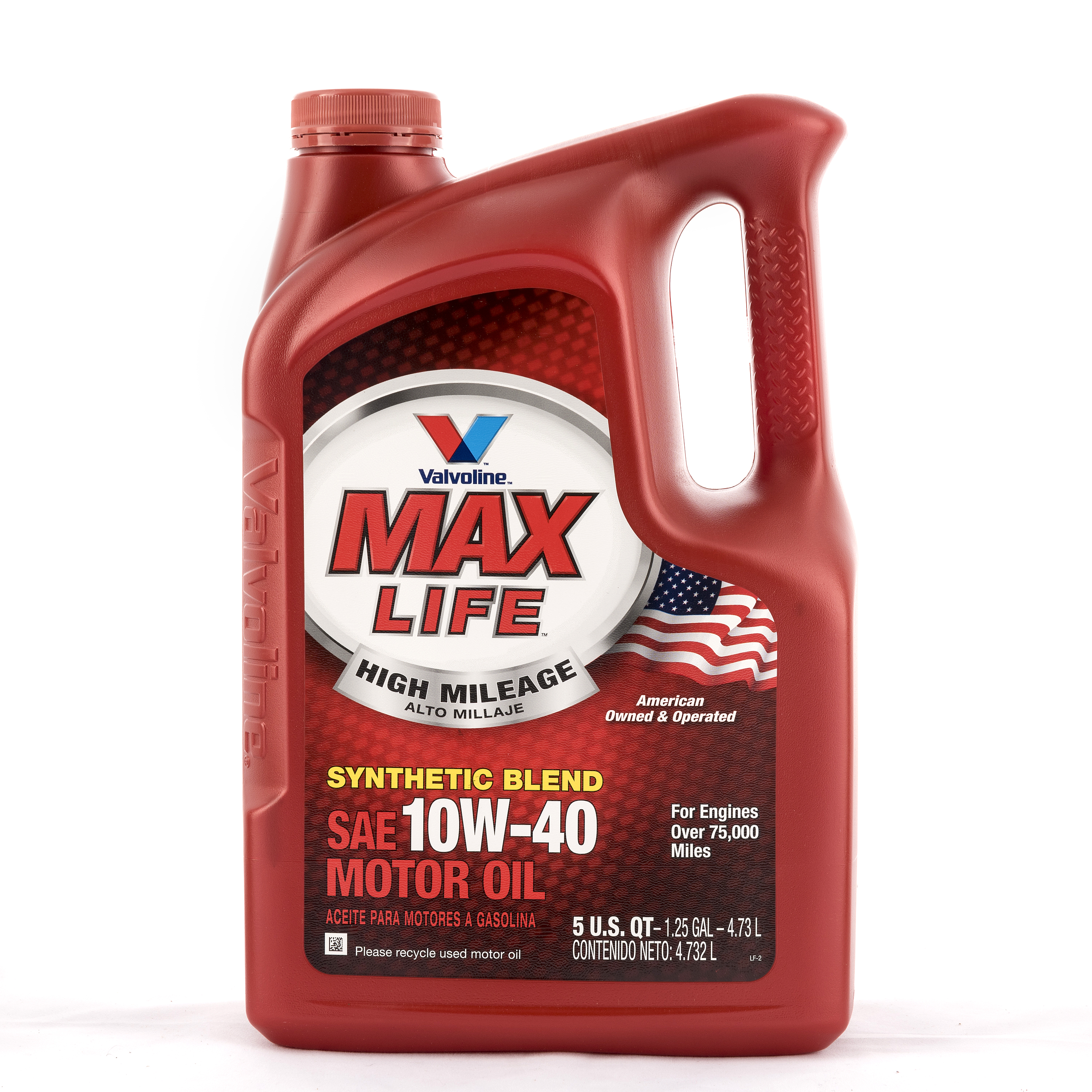 Valvoline MaxLife High Mileage 10W-40 Motor Oil, 5 Quarts