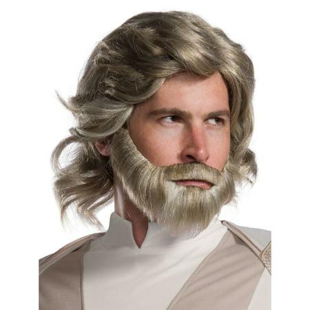 Star Wars Episode VIII - The Last Jedi Luke Skywalker Wig and Beard Set - Wig Set
