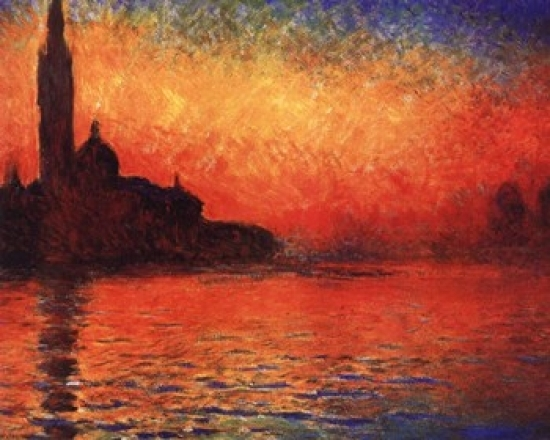 San Giorgio Maggiore At Dusk By Claude Monet Painting Paint By Numbers Kit DIY