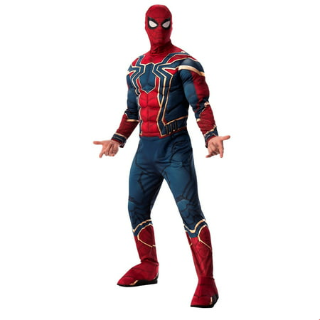 Marvel Avengers Infinity War Deluxe Mens Iron Spider Halloween Costume (Halloween Homemade Costumes For Men)