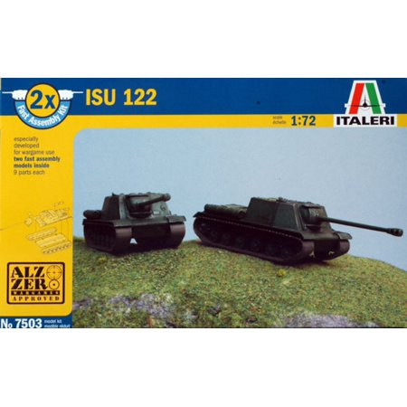 Italeri 1:72 ISU-122 Two Fast Assembled Plastic Model Kits 9 Parts Each #7503 (Two Part Brain Model)