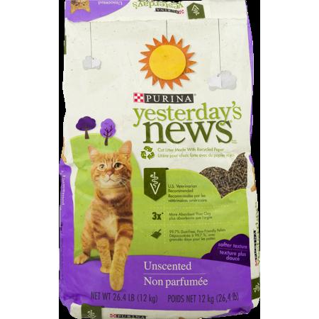 Purina Yesterdays News Unscented Softer Texture Cat Litter  26 4 Lb