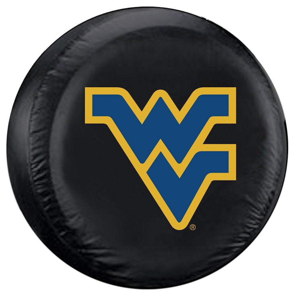 West Virginia Mountaineers Black Tire Cover - Standard Size