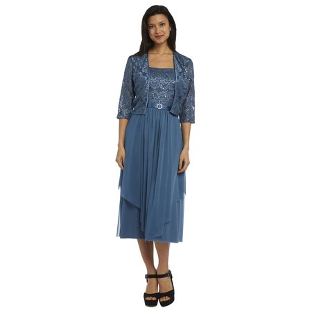 R Richards Knee Length Mother Of The Bride Dress With Jacket