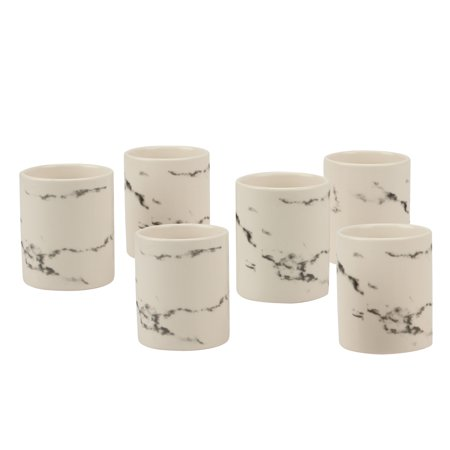 Better Homes and Gardens Set of 6 Candle Holders: Ceramic Votive Candle Holders with Marble -