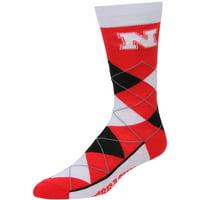 Nebraska Cornhuskers For Bare Feet Argyle Crew Socks - No Size