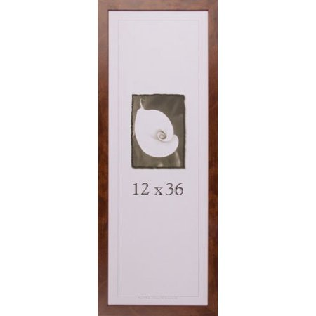 12x36 Wood Picture Frame (Canadian Walnut) - Made in the USA