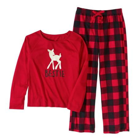 Girls' Family Pajamas Buffalo Plaid 2-Piece Sleepwear Set for $<!---->