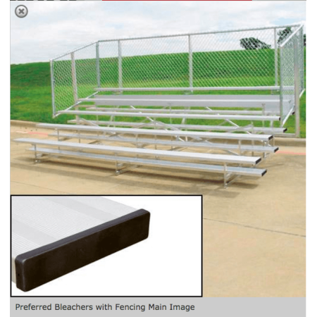 4 or 5 Row Preferred Aluminum Bleachers with Safety Fencing