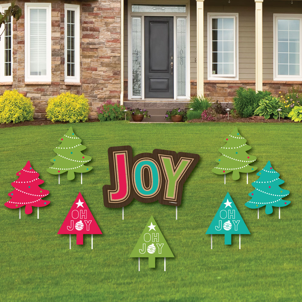 Big Dot of Happiness Rustic Joy - Yard Sign & Outdoor Law...