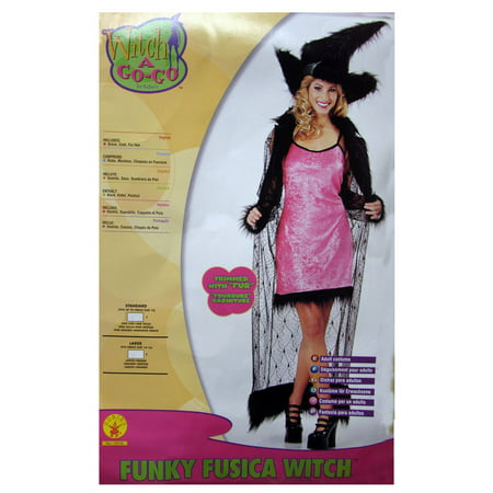 Funky Halloween Food (Rubie's Womens 'Funky Fuchsia Witch' Halloween Costume, Pink, One)