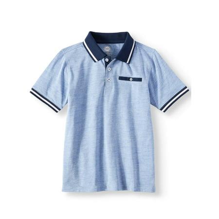Wonder Nation Short Sleeve Stretch Jersey Polo (Little Boys & Big Boys)