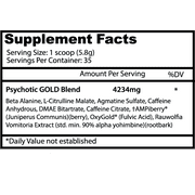 Psychotic Gold Pre Workout Gummy Candy 35 Servings Insane Labz