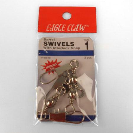 Eagle Claw Interlok Swivel Nickel Size1/0 3Pk