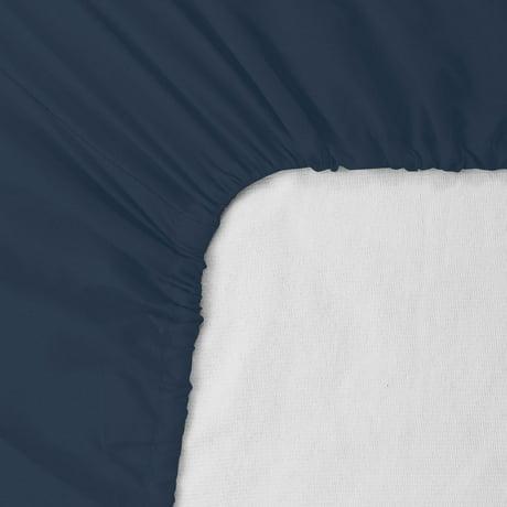 deep pocket fitted sheets king only microfiber sheet set navy blue. Black Bedroom Furniture Sets. Home Design Ideas