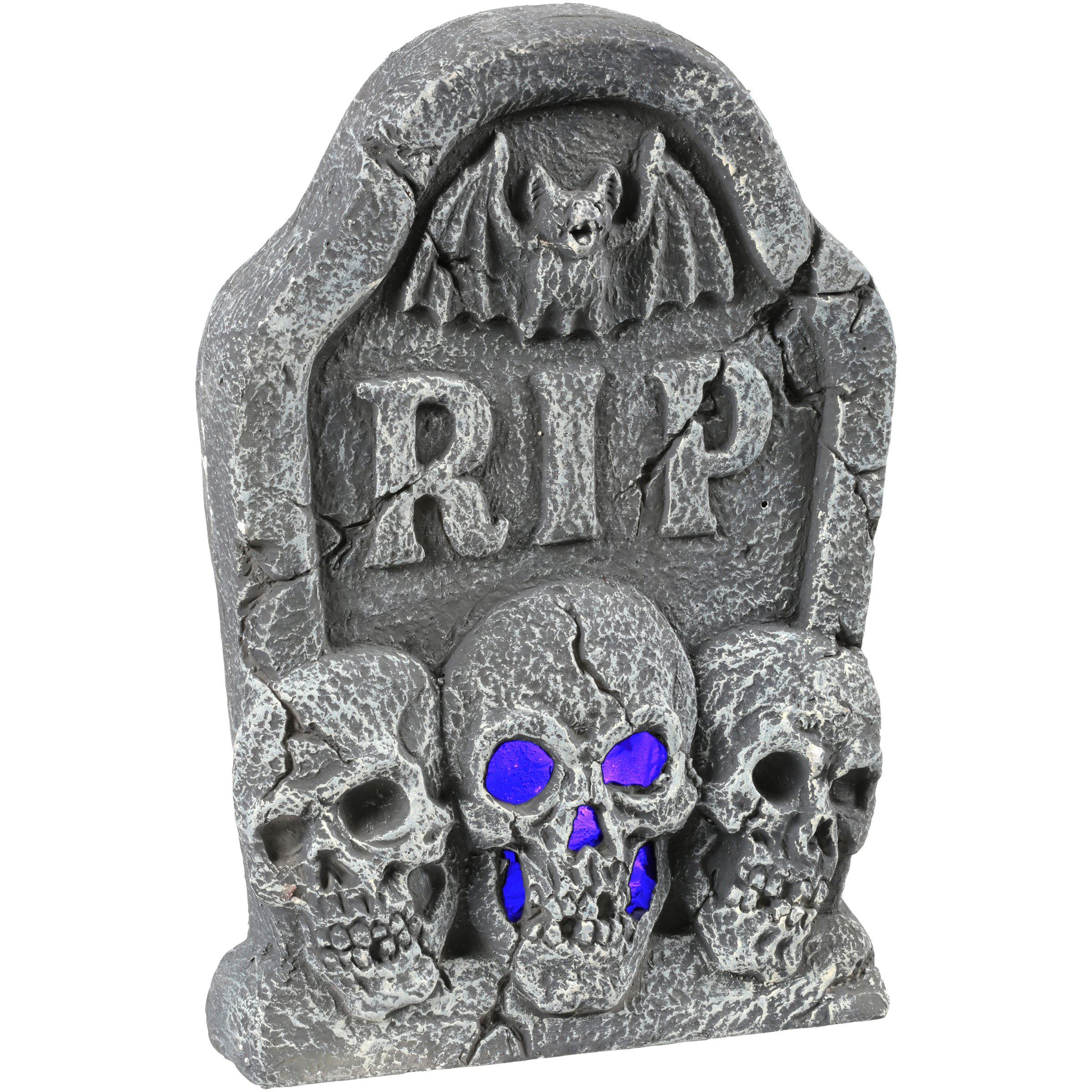 Ligth Up Skull Tombstone Halloween Decoration